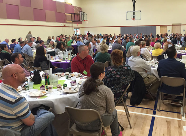 More than 200 community members filled the Fairfield gym for the BEF's Breakfast at Bethel. They contributed $22,000 to the BEF.